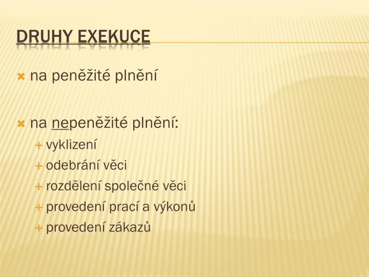 Druhy exekuce