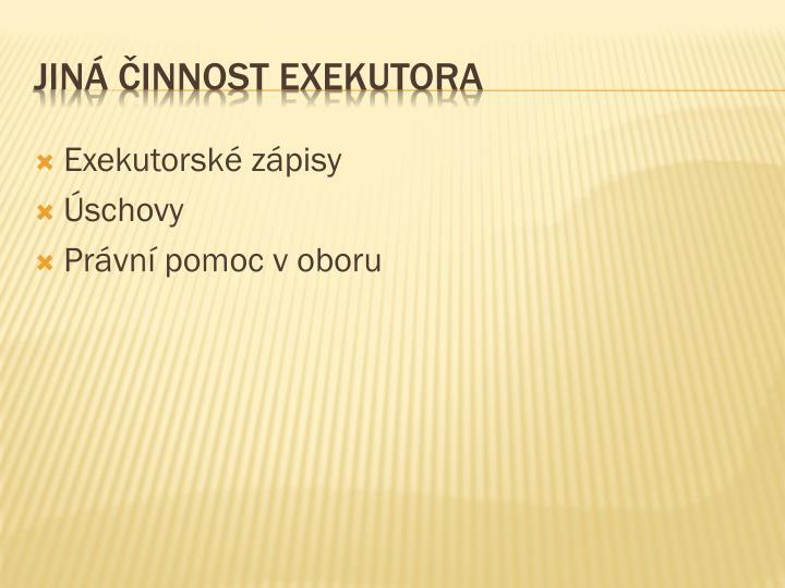 Exekutorské zápisy