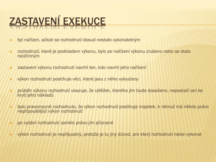 Zastavení exekuce