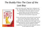 the buddy files the case of the lost boy