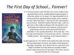 the first day of school forever