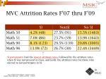 mvc attrition rates f 07 thru f 09