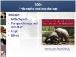 100 philosophy and psychology