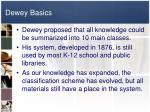 dewey basics