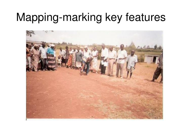 Mapping marking key features