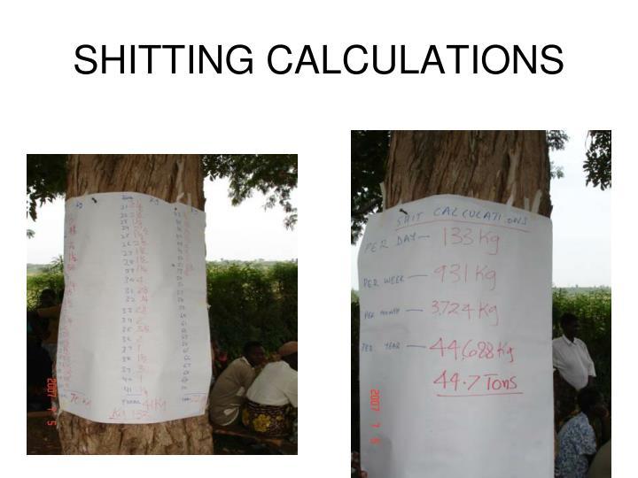 SHITTING CALCULATIONS