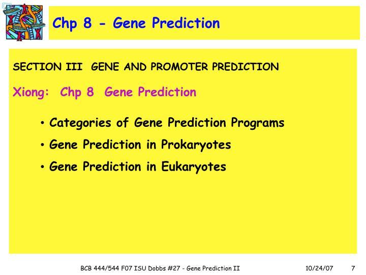 Chp 8 - Gene Prediction