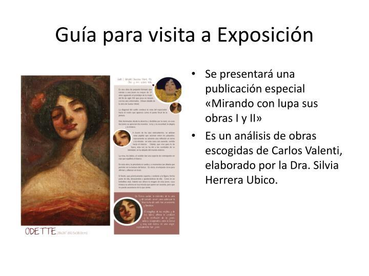 Guía para visita a Exposición