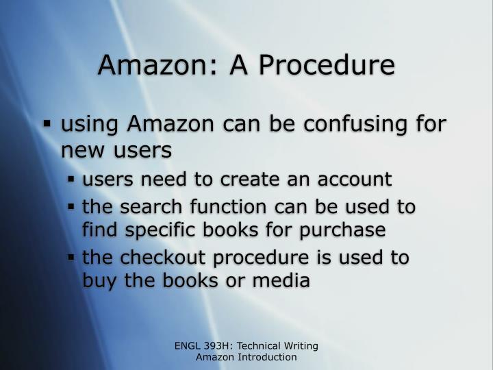 Amazon a procedure