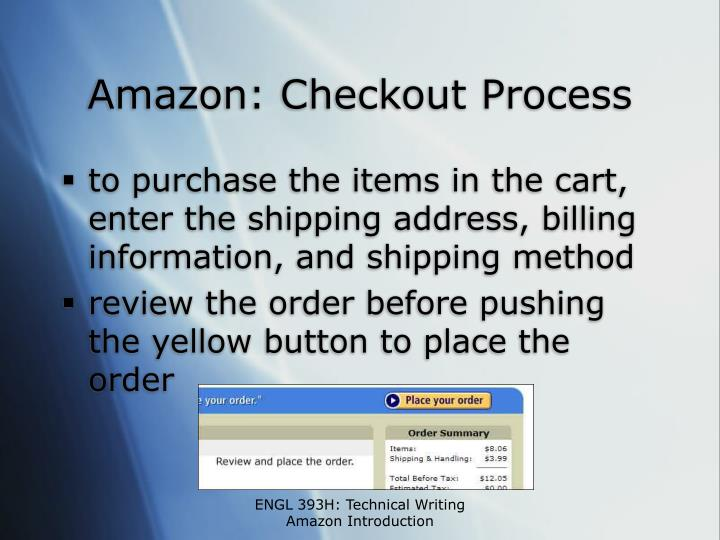 Amazon: Checkout Process