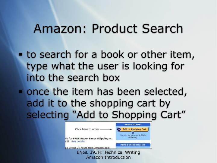 Amazon: Product Search