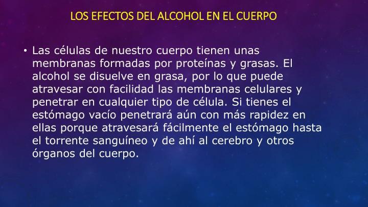 Los efectos del alcohol en el cuerpo