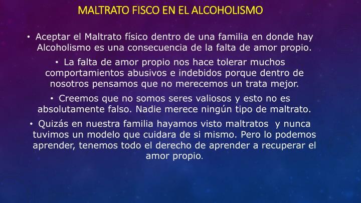 Maltrato fisco en el alcoholismo