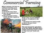 commercial farming