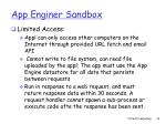 app enginer sandbox1