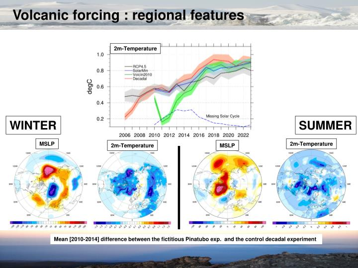 Volcanic forcing : regional features