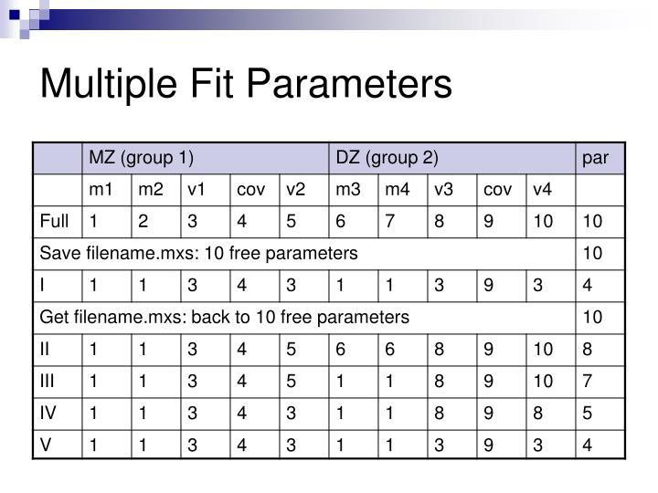 Multiple Fit Parameters