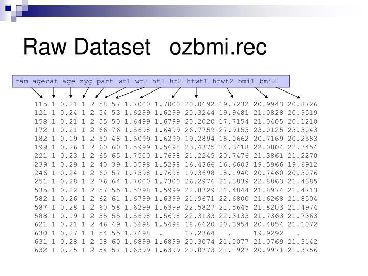 Raw Datasetozbmi.rec