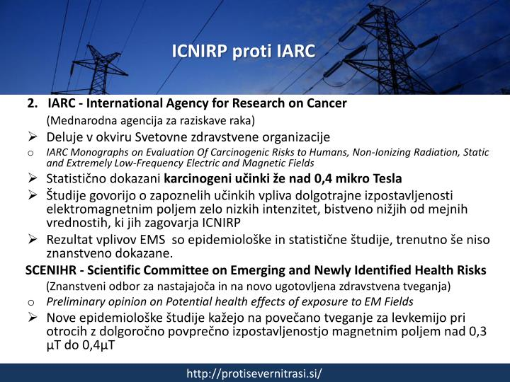 ICNIRP proti IARC
