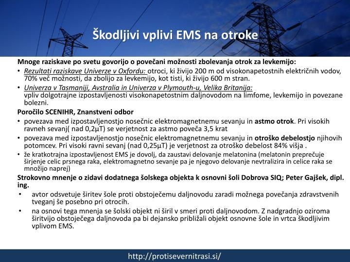 Škodljivi vplivi EMS na otroke