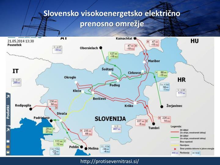 Slovensko visokoenergetsko elektri no prenosno omre je