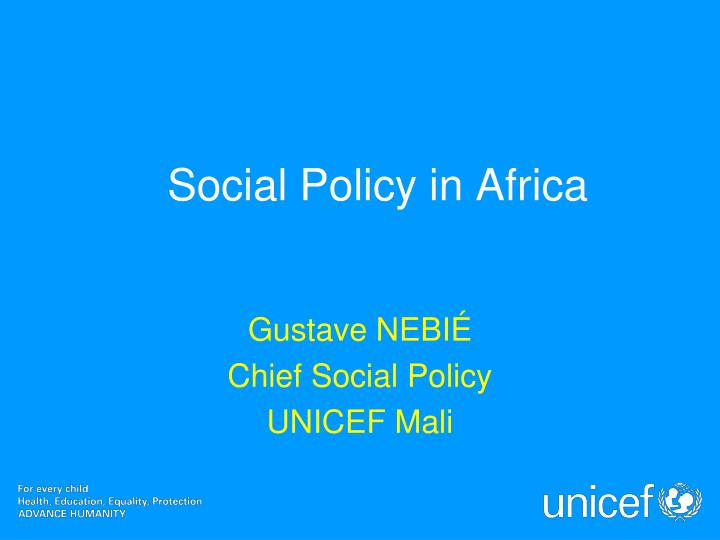Social policy in africa