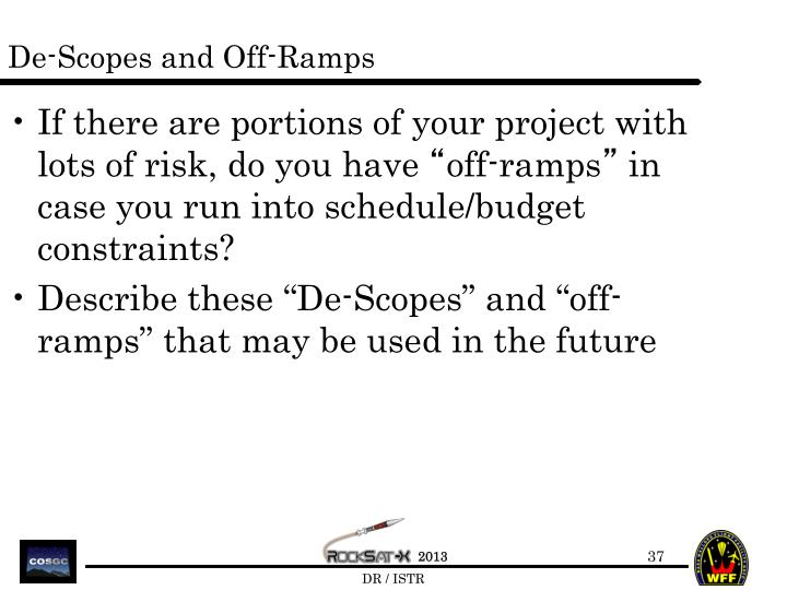 De-Scopes and Off-Ramps