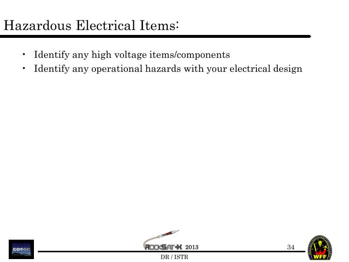 Hazardous Electrical Items: