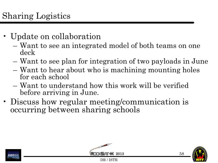 Sharing Logistics