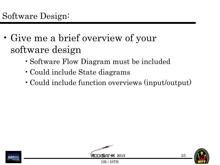 Software Design: