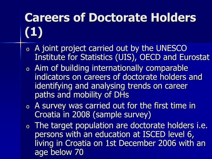 Careers of Doctorate Holders (1)