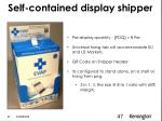 self contained display shipper
