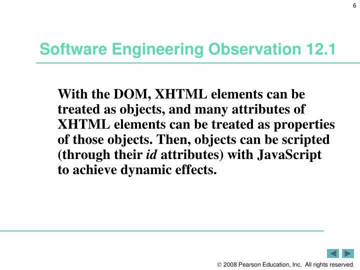 Software Engineering Observation 12.1