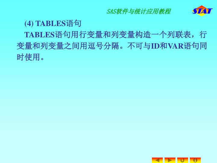 (4) TABLES