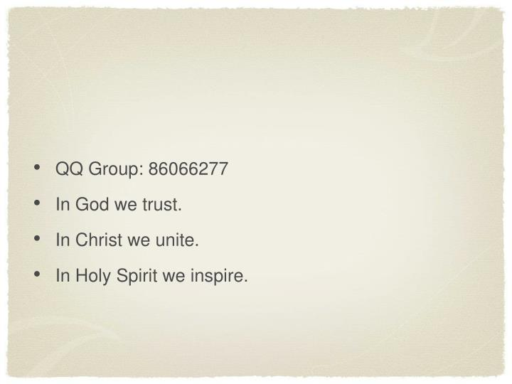 QQ Group: 86066277