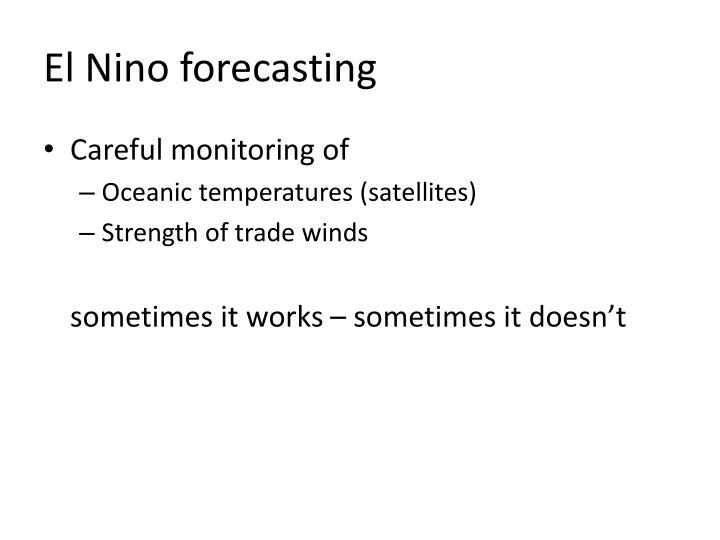 El Nino forecasting