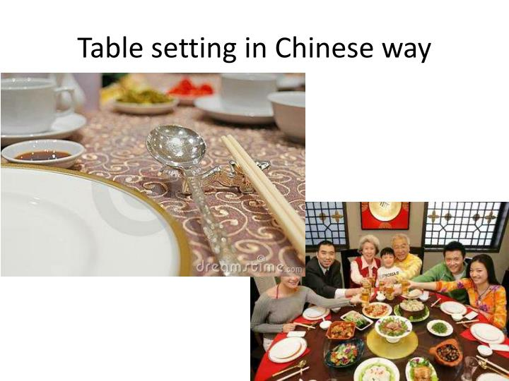 Table setting in Chinese way
