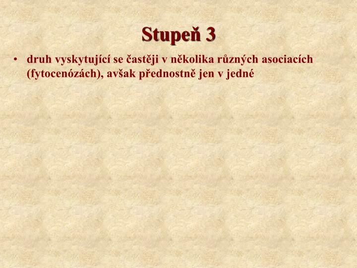 Stupeň 3