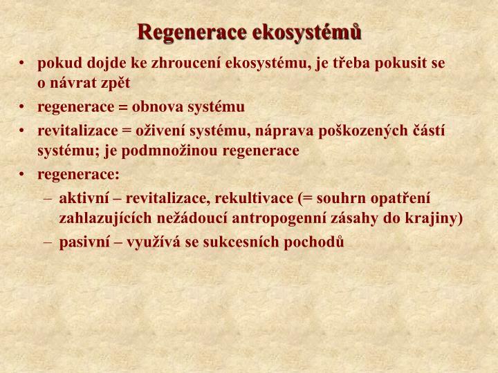Regenerace ekosystémů