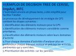 iii emploi de decision tree de cerise impact mfc