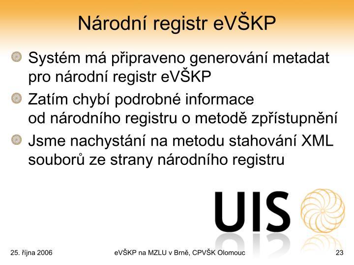 Národní registr eVŠKP