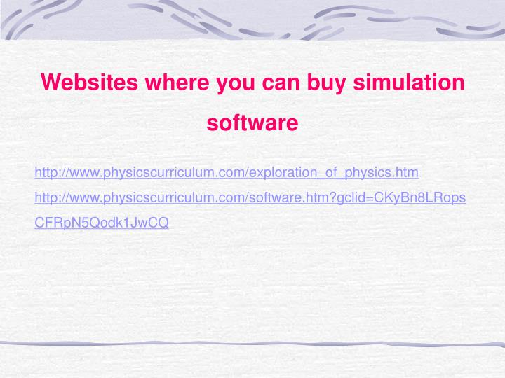Websites where you can buy simulation software