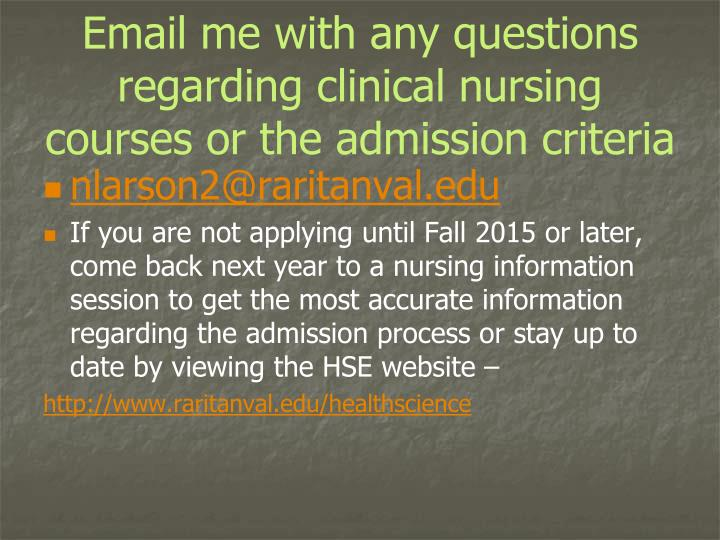 Email me with any questions