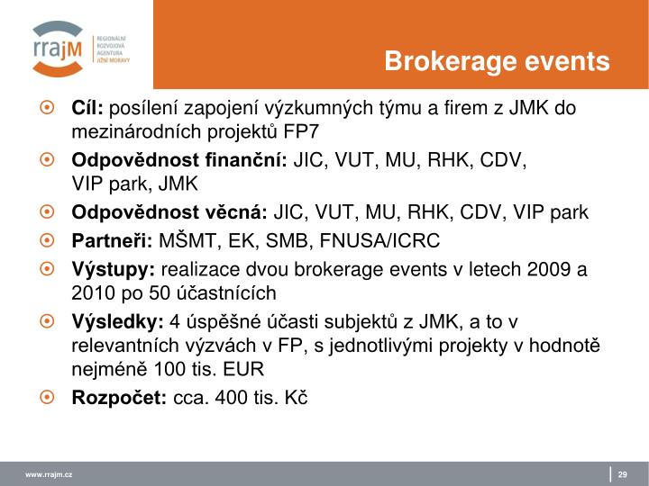 Brokerage events
