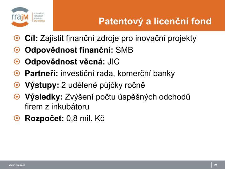 Patentový a licenční fond