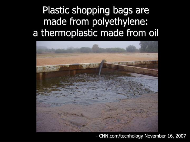 Plastic shopping bags are