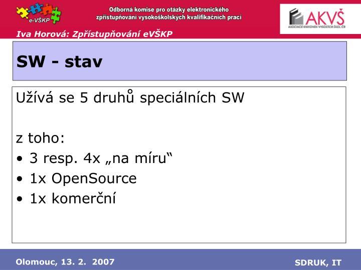 SW - stav