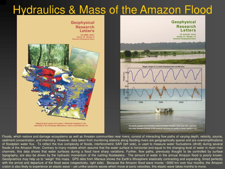 Hydraulics mass of the amazon flood