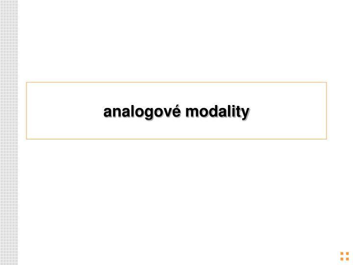 analogové modality