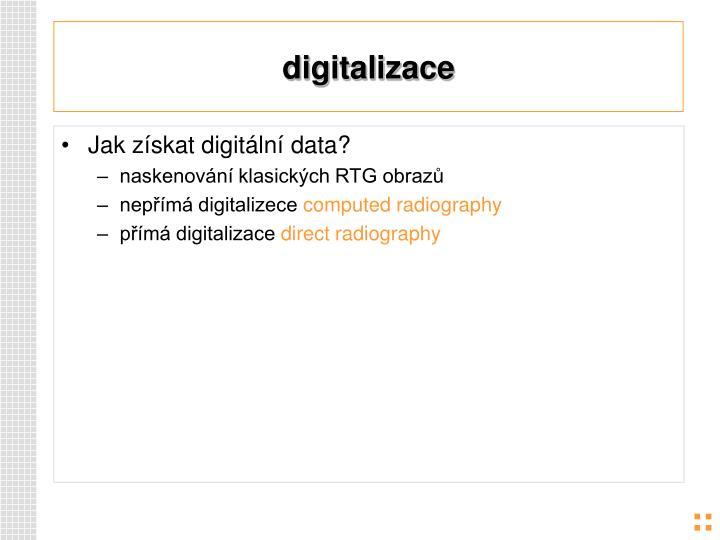 Digitalizace